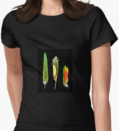 Feathers Three Womens Fitted T-Shirt