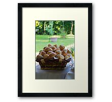 bread basket Framed Print