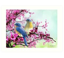 Sweet Bluebirds Art Print