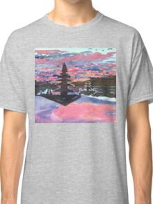 Temple Sunset  Classic T-Shirt