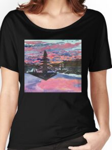 Temple Sunset  Women's Relaxed Fit T-Shirt