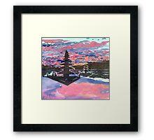 Temple Sunset  Framed Print