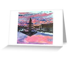 Temple Sunset  Greeting Card