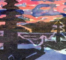 Temple Sunset  Sticker