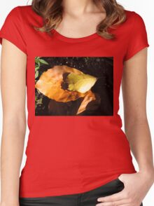 Russet Autumn Leaves - Close-up Women's Fitted Scoop T-Shirt