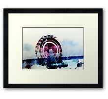lights at the carnival Framed Print
