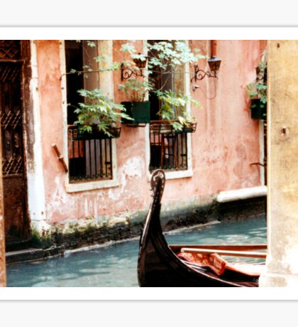 Venice Water and Gondola Sticker