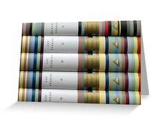 Colorful Cat Stories Greeting Card