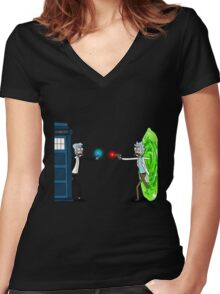 Doctor Who - Ricktions In Time And Space T-shirts Women's Fitted V-Neck T-Shirt