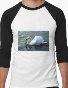 swan on the lake Men's Baseball ¾ T-Shirt