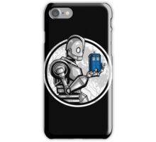 Doctor Who - The Giant's Blue Box T-shirts iPhone Case/Skin