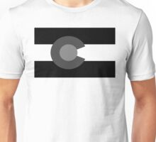 Colorado State Flag Black And White Unisex T-Shirt