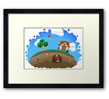 Animal Crossing Panorama  Framed Print