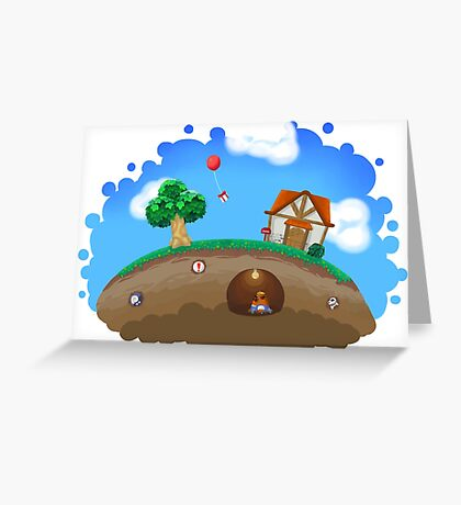 Animal Crossing Panorama  Greeting Card