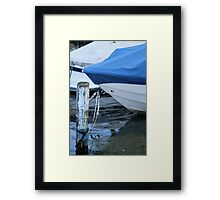 boat on lake Framed Print