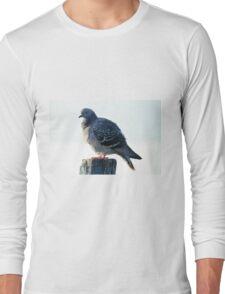 bird on lake Long Sleeve T-Shirt