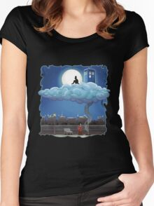 Doctor Who - Above The Clouds T-shirts Women's Fitted Scoop T-Shirt