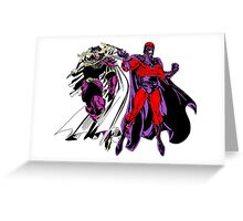 Exodus and Magneto Greeting Card
