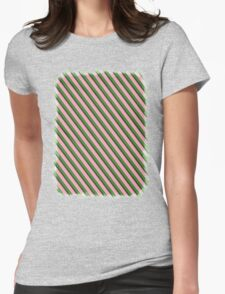 Pink Roses in Anzures 3 Stripes 2D Womens Fitted T-Shirt