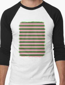 Pink Roses in Anzures 3 Stripes 2H Men's Baseball ¾ T-Shirt