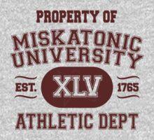 Property of Miskatonic University Athletic Dept by AmazingRobyn