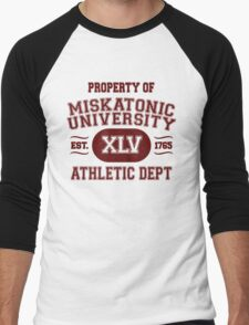 Property of Miskatonic University Athletic Dept Men's Baseball ¾ T-Shirt