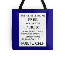 Police Telephone - Free For Public Use Tote Bag