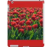 Endless Field of Red Tulips iPad Case/Skin