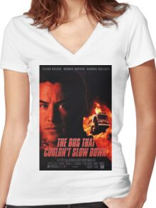 The Bus That Couldn't Slow Down Women's Fitted V-Neck T-Shirt