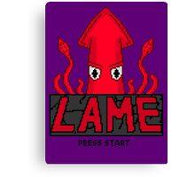 LAME Squid Pixel Art Canvas Print