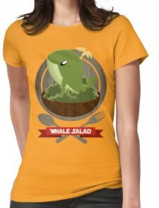 Whale Salad Womens Fitted T-Shirt