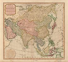 Vintage Map of Asia (1799)  by BravuraMedia