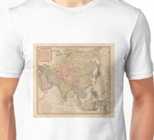 Vintage Map of Asia (1799)  Unisex T-Shirt