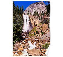 Vernal Falls along the Mist Trail, Yosemite Valley, California, USA Poster