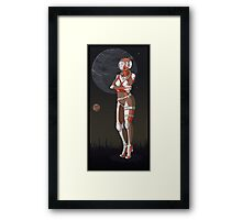 Astronaut Girl Framed Print