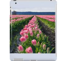 Rows of Pink Tulips iPad Case/Skin