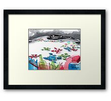 How To Save The Mysterious Life of the Endangered Sea Glass Framed Print