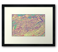 abstract wooden background Framed Print