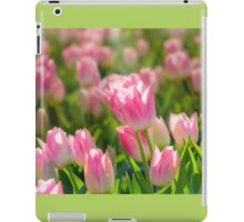 Sea of Sunlit Pink Tulips iPad Case/Skin
