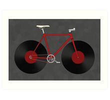Record Fixie Art Print