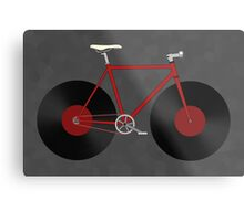Record Fixie Metal Print