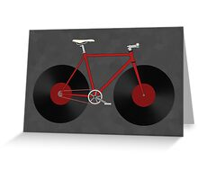 Record Fixie Greeting Card