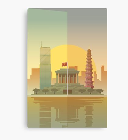 Vietnam Hanoi Illustration Canvas Print