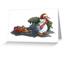 Snowman in scarf Greeting Card