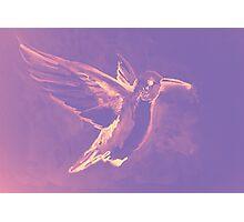 Watercolor of hummingbird Photographic Print