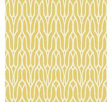 Yellow decorative knit seamless pattern Photographic Print