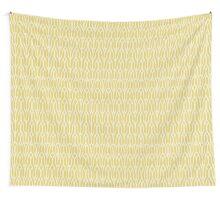 Yellow decorative knit seamless pattern Wall Tapestry