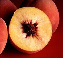 Autumn Red Peaches by BravuraMedia