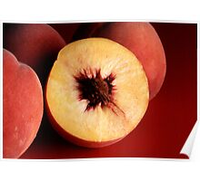 Autumn Red Peaches Poster