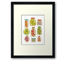 Autumn pickled vegetables Framed Print